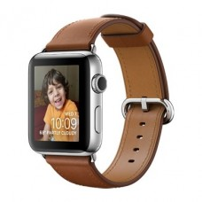 Apple Watch Series 2 42mm Stainless Steel Case With Saddle Brown Classic Buckle Band MNPV2